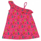 Jumping Beans Girls size 5 Pink Sea Horse One-Shoulder Babydoll Top Shirt