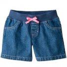 Jumping Beans Girls 2T Medium Stonewash Blue Denim Jean Shorts