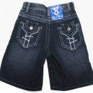 Jean Station Boys size 4 Dark Blue Jean Shorts New