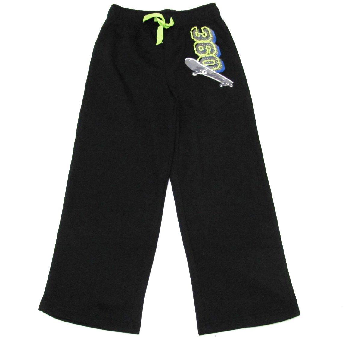 Jelli Fish Kids Boys XS 4-5 Black Skater Fleece Pants Lounge Pajama Sweatpants