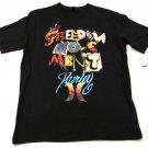 Hurley Boys XL Freedom Movement Tee Shirt Black Short Sleeve Cotton T-shirt