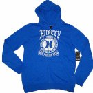 Hurley Mens M Lone Wolf Hoodie Heather Blue Sweatshirt with White Logo