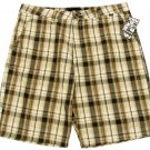 Hurley Mens Size 38 Brown Plaid Shorts Reagan Casual Short New