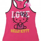 Hello Kitty Juniors M Love Pink Tank Top Shirt Medium Sanrio New