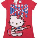 Hello Kitty Girls sz S Red UK Invasion Tee Shirt British T-shirt Small New