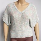 Heart N Crush Juniors L Pastel V-neck Dolman Sweater Top Knit Shirt