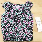 Guess Baby Girls 12 Months Black and White Floral Smocked Peasant Top Shirt New