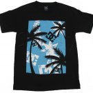 Dc Shoes Mens Small Steez Tee Shirt Black T-shirt with Palm Tree Print S New