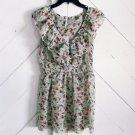 7 COLORS Womens S Spring Floral Sheer Peplum Blouse Women's S Shirt