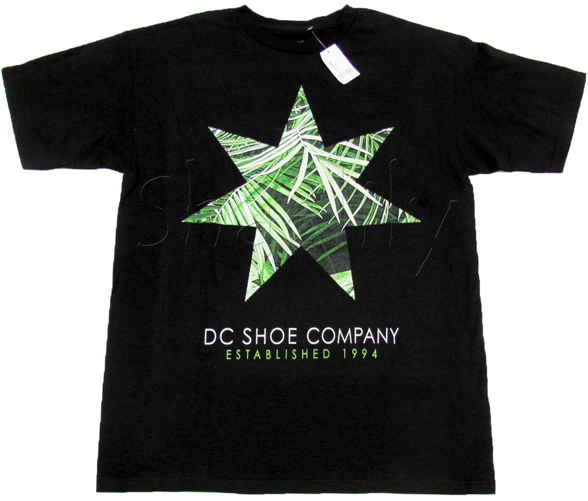 Dc Shoes Mens M Tee Shirt Black T-shirt with Palm Leaf Star Medium New