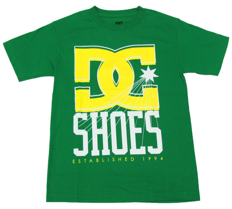 DC Shoes Mens Medium YC Denim Tee Shirt Green M Crew T-shirt New