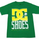 DC Shoes Mens Small YC Denim Tee Shirt Green S Crew T-shirt New