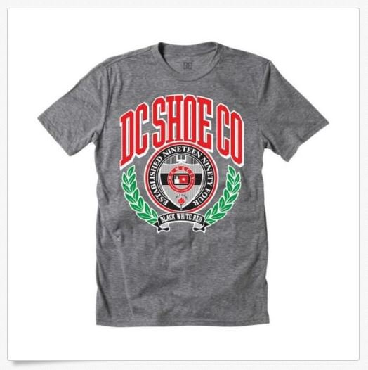 Dc Shoes Mens S Higher Learning Tee Shirt Logo T-shirt New Small