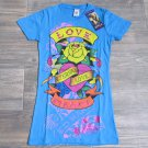 Ed Hardy Girls L 12 Eternal Love V-neck Tee Shirt Blue Rose T-shirt Youth Large