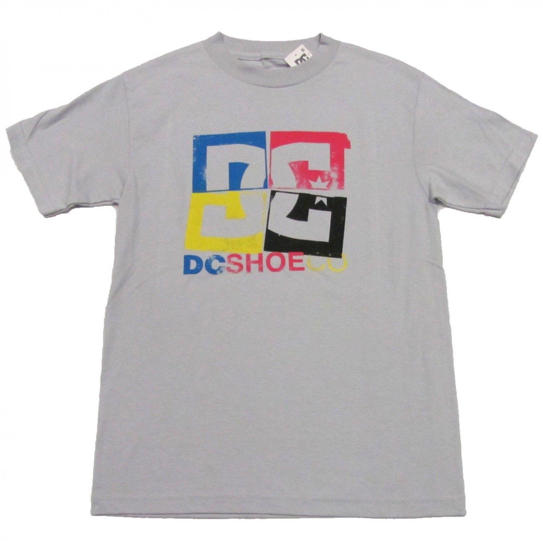 Dc Shoes Mens S cmyk Tee Shirt Light Gray Small T-shirt New