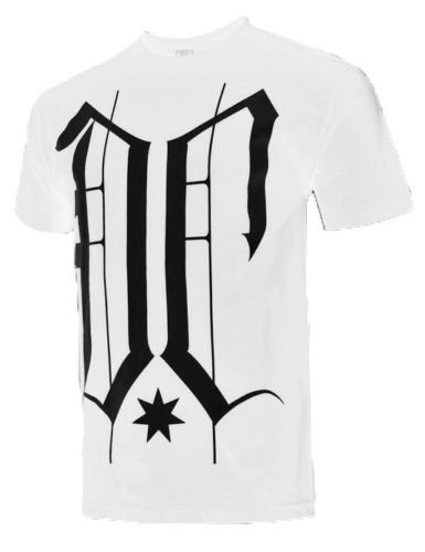 Dc Shoes Mens S Tough Guy Tee Shirt White T-shirt with Black Logo Small New