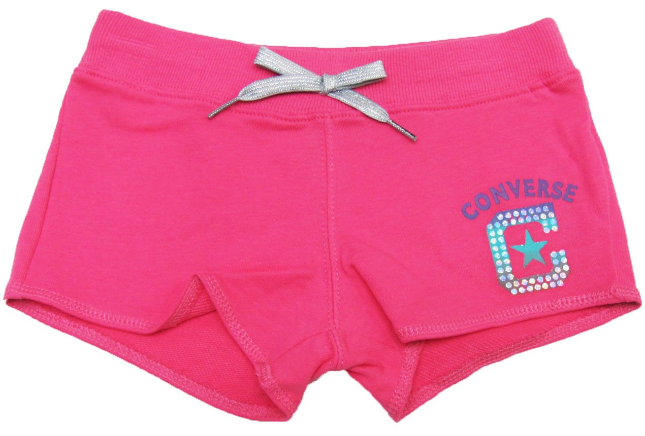 Converse Girls 6 Pink Shorts Kids Cotton New