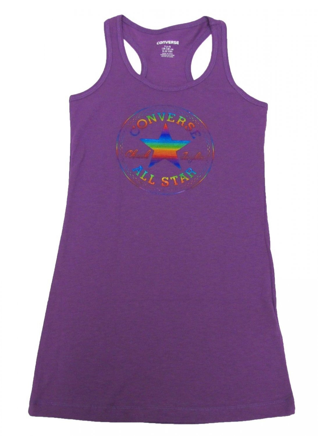 Converse Girls S Purple Dress Racerback Tank Top Sleeveless Style Youth