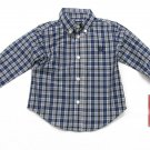Chaps Baby Button-down Shirt Long Sleeve Blue Plaid Boys 18 Months
