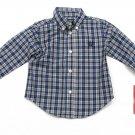 Chaps Baby Button-down Shirt Long Sleeve Blue Plaid Boys 18 Months