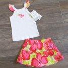 Carters 3 Months 2-Piece Skirt Set Toucan Floral Tropical Tank Top Shirt Baby Girls