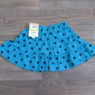 Carters 18 Months Skirt Scooter Skort Skirt Turquoise Blue with Navy Polka Dot Baby Girls New