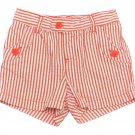 Carters Girls size 6 Coral Stripe Woven Seersucker Pull-On Playwear