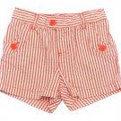 Carters Girls size 4 Coral Stripe Woven Seersucker Pull-On Playwear