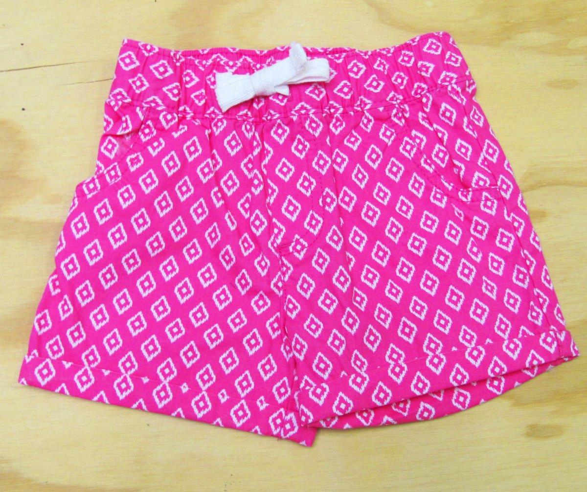 Carters Girls size 6 Shorts Pink Ikat Print Pull Up Playwear Cotton