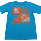 Calvin Klein Jeans Boys L T-shirt Flag Tee Shirt Blue Youth Large