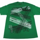 Carbon Mens L T-shirt Stars Aligned Tee Shirt Green Nautical Star Plaid Large