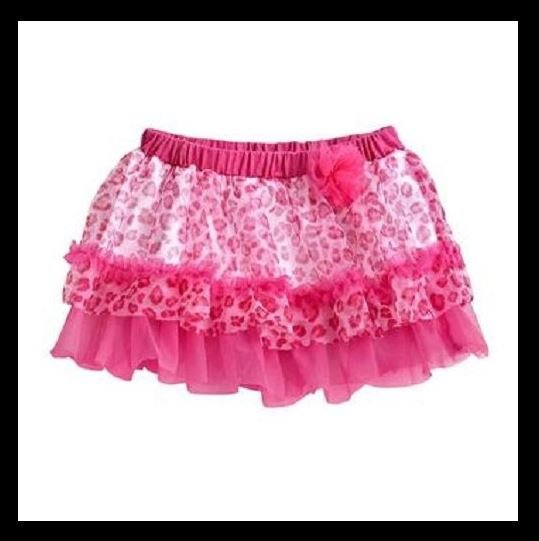 Baby Starters Girls 6 Mos Pink Leopard Print Tutu Skirt Infant