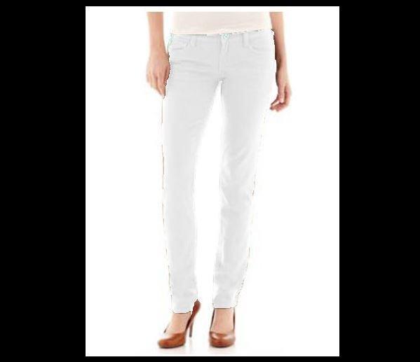 Arizona Juniors size 17 Super Skinny Jeans White Colored Denim