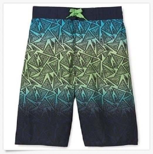 Arizona Boys 4 Swim Trunks Nacho Board Shorts with Mesh Lining Kids Blue Green