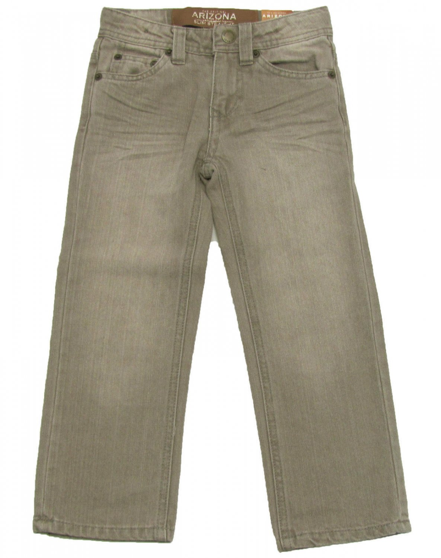Arizona Boys size 4 Jeans Medium Gray Premium Slim Straight Leg Adjustable Waist
