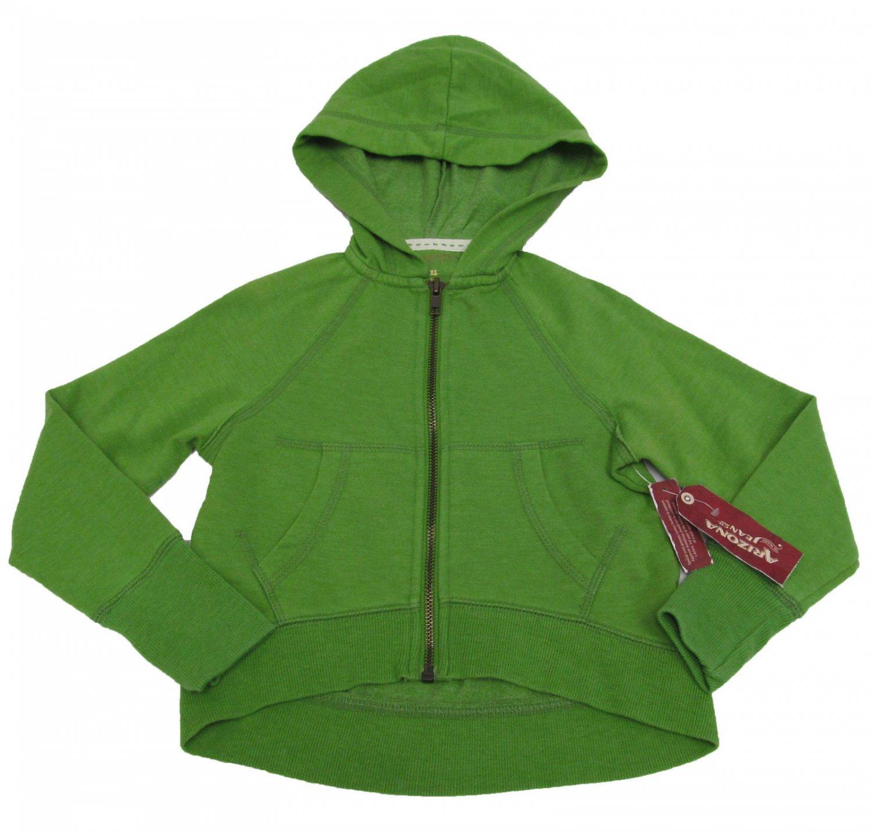 Arizona Girls 4-5 Hoodie Green Cropped Sweatshirt Zip Up Kids XS