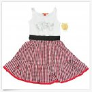 Apple Bottoms Dress M Girls Gingham Checkered White Red Black Sleeveless