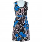 jon & anna L Snakeskin Print Dress Lace Back Sleeveless Black Blue Womens 7079