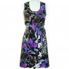 jon & anna S Snakeskin Print Dress Lace Back Sleeveless Black Purple Womens 7079