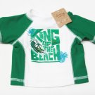 Old Navy Baby Surf Shirt King of the Beach Green White Swim Top Boys NB 0-3 Mos