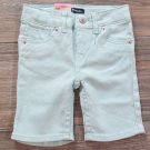 Levis Girls 3T Bermuda Shorts Sully Sweetie Denim Light Green Jean Toddler Levi's