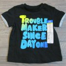 Okie Dokie Trouble Maker Tee Shirt Baby Boys 6 Mos T-shirt New