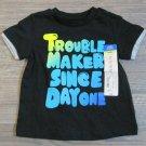 Okie Dokie Trouble Maker Tee Shirt Baby Boys 6 Mos T-shirt New