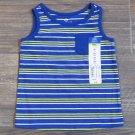 Okie Dokie Blue Striped Tank Top Pocket Shirt Baby Boys 9 Mos New