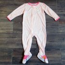 Carters Pink Cheetah Print Footie Pajamas Girls 2T Long Sleeve Sleeper New