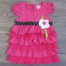 Youngland Pink Ruffle Dress Girls 2T Polka Dot Ribbon New