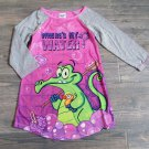 Disney Where's My Water Pajama Shirt Girls XS 4/5 Long Sleeve Swampy Night Gown