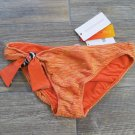 Cecilia Prado due M Orange Knit Bikini Bottom with Side Tie Brasil Womens Medium
