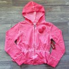 Arizona Girls Pink Hoodie L 10-12 Peplum Full Zip New