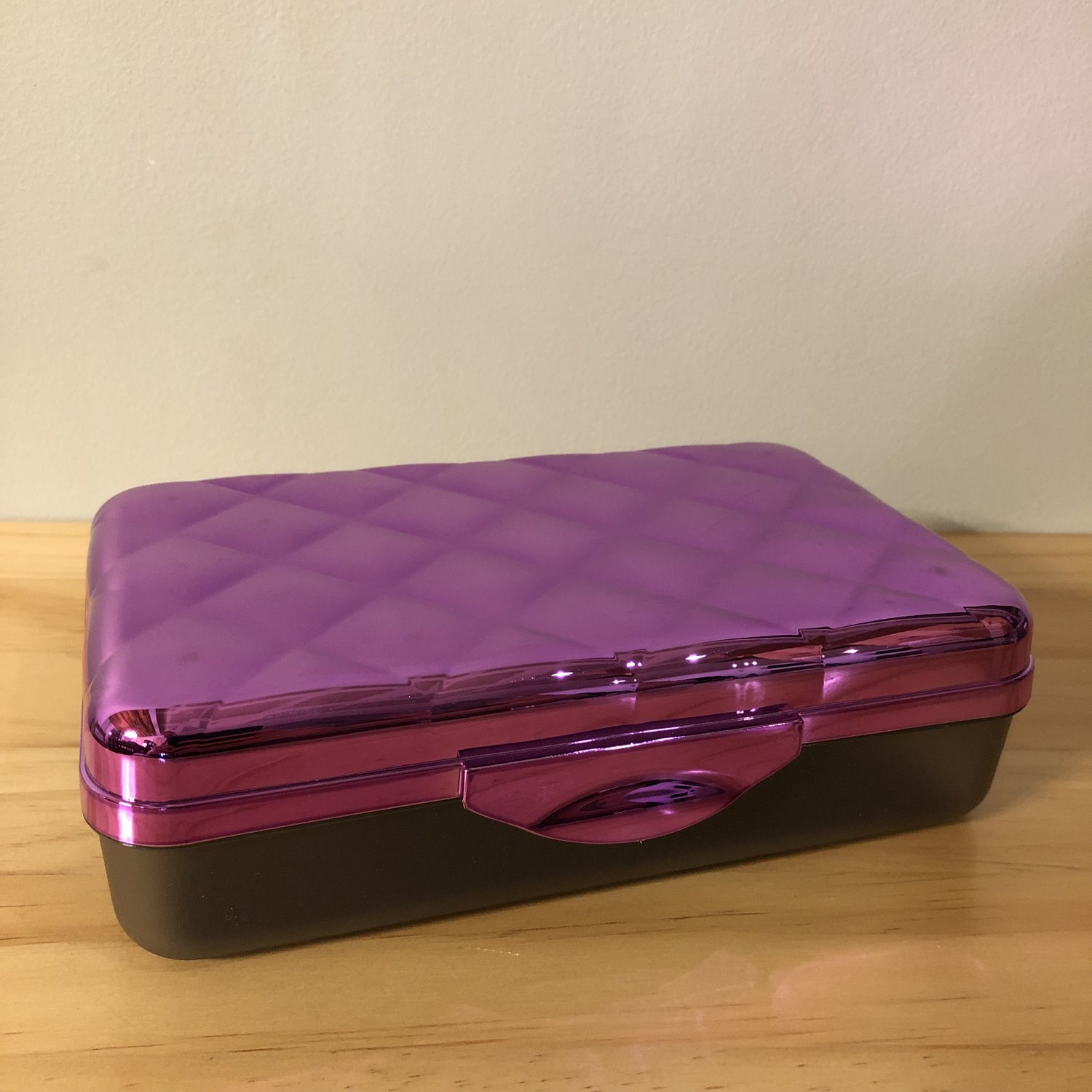 It�s Academic Quilted Electro School Box Purple
